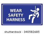 safety harness signs | Shutterstock .eps vector #340582685