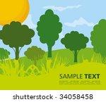 seasonal background | Shutterstock .eps vector #34058458