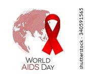 world aids day illustration ... | Shutterstock .eps vector #340591565