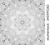 tracery binary pattern. mehendi ... | Shutterstock .eps vector #340595282