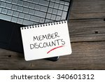 Small photo of Member Discounts, e-commerce conceptual