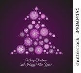 merry christmas card with... | Shutterstock .eps vector #340604195