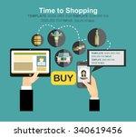 vector set illustration of time ... | Shutterstock .eps vector #340619456