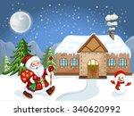 merry christmas card.... | Shutterstock .eps vector #340620992