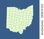 map of ohio | Shutterstock .eps vector #340621322