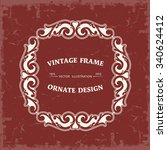 frame in vintage style   Shutterstock .eps vector #340624412
