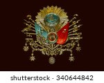 old ottoman empire emblem   old ... | Shutterstock . vector #340644842