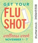 get your flu shot wellness week ... | Shutterstock .eps vector #340645508