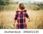 beautiful little girl in a... | Shutterstock . vector #340652135