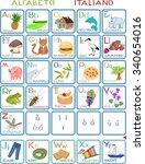 italian alphabet | Shutterstock .eps vector #340654016