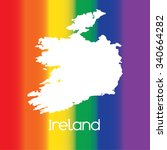 a map of the country of ireland | Shutterstock . vector #340664282