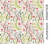 christmas seamless pattern with ... | Shutterstock .eps vector #340667618