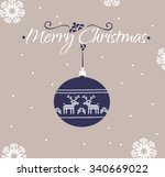 vintage christmas and new year... | Shutterstock . vector #340669022