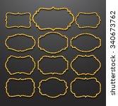 golden frames  vintage style....   Shutterstock .eps vector #340673762