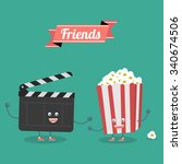 Постер, плакат: Movies and popcorn friends