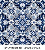 seamless paisley background.... | Shutterstock .eps vector #340684436