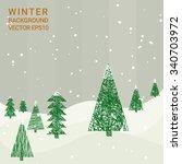 winter background in vintage... | Shutterstock .eps vector #340703972
