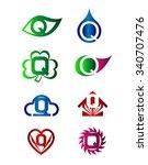 letter q logo icon set  | Shutterstock .eps vector #340707476