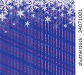 blue christmas background ... | Shutterstock .eps vector #34071001