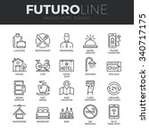 modern thin line icons set of... | Shutterstock .eps vector #340717175
