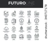 modern thin line icons set of... | Shutterstock .eps vector #340717178