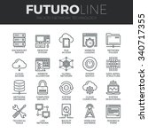 modern thin line icons set of ... | Shutterstock .eps vector #340717355