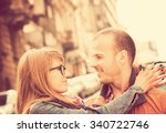 couple enjoying outdoors in a... | Shutterstock . vector #340722746