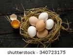 eggs in a nest   Shutterstock . vector #340723175