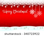 merry christmas  the red... | Shutterstock .eps vector #340723922