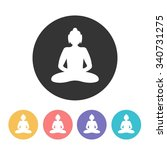 buddha icon. vector illustration | Shutterstock .eps vector #340731275