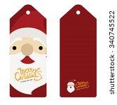 christmas card  merry christmas ... | Shutterstock .eps vector #340745522