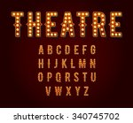 casino or broadway signs style... | Shutterstock .eps vector #340745702