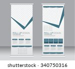 roll up banner stand template.... | Shutterstock .eps vector #340750316