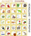 spanish alphabet   Shutterstock .eps vector #340750616
