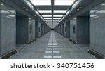futuristic corridor architecture   Shutterstock . vector #340751456
