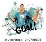the goal | Shutterstock .eps vector #340758806