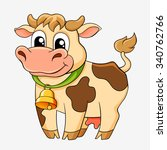 funny cartoon cow | Shutterstock .eps vector #340762766