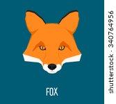Abstract Fox Head Isolated On...