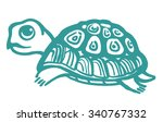 turtle hand drawn illustration. | Shutterstock .eps vector #340767332