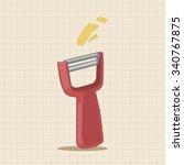 kitchenware peeler theme... | Shutterstock .eps vector #340767875