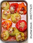 stuffed peppers with meat ... | Shutterstock . vector #340777625