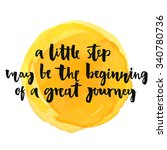 a little step may be the... | Shutterstock .eps vector #340780736