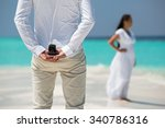 man hold marriage ring  | Shutterstock . vector #340786316