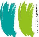 vector brush stroke . curved... | Shutterstock .eps vector #340797896