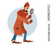 vector image of a cartoon flat... | Shutterstock .eps vector #340802912