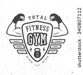 Gym Logo  Label And Or Badge...