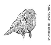 zentangle stylized bird.... | Shutterstock .eps vector #340807892