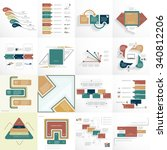 big set templates and... | Shutterstock .eps vector #340812206