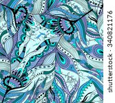 seamless pattern background... | Shutterstock .eps vector #340821176