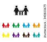 family   color vector icon | Shutterstock .eps vector #340823675